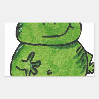 Pegatina Rectangular Rana Frog