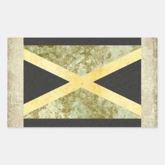 Pegatina Rectangular Rectángulo de los pegatinas de la bandera de