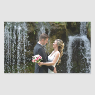 Pegatina Rectangular Regalos de boda