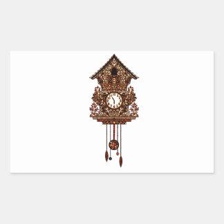Pegatina Rectangular Reloj de cuco 2