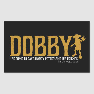 Pegatina Rectangular Reserva Harry Potter del Dobby de Harry Potter el