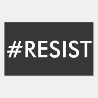 PEGATINA RECTANGULAR #RESIST