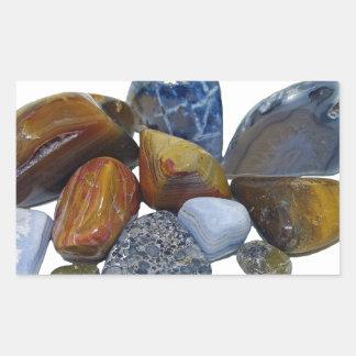 Pegatina Rectangular Rocas pulidas