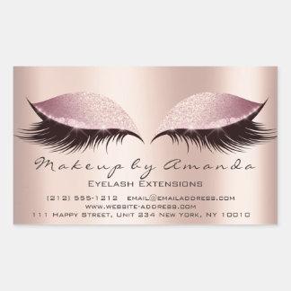 Pegatina Rectangular Salón de belleza del artista de maquillaje del
