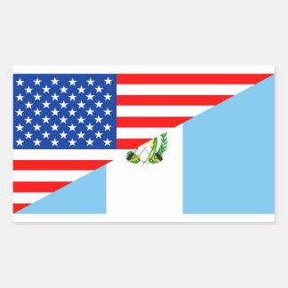 Pegatina Rectangular símbolo de América de la bandera del país de los