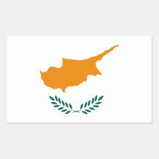 Pegatina Rectangular Símbolo de la bandera de país de Chipre de largo