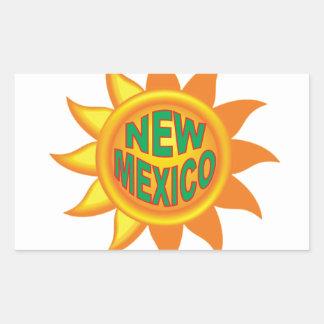 Pegatina Rectangular Sol de New México
