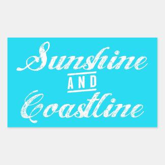 Pegatina Rectangular Sol y costa costa