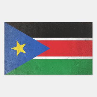 Pegatina Rectangular Sudán del sur