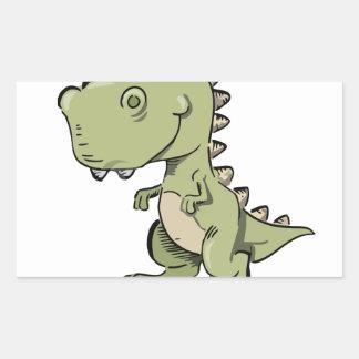 Pegatina Rectangular T-Rex