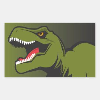Pegatina Rectangular T-Rex personalizó artículos