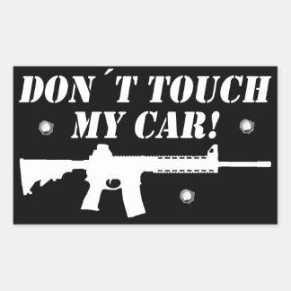 Pegatina Rectangular ¡Tacto de Don´t mi coche!