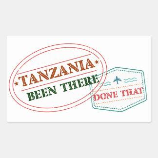 Pegatina Rectangular Tanzania allí hecho eso