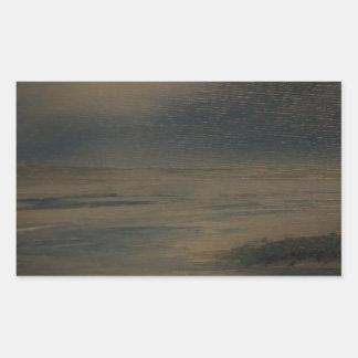 Pegatina Rectangular tarde perezosa en la playa