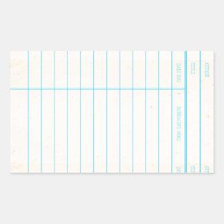 Pegatina Rectangular Tarjeta debida de fecha del libro de la biblioteca