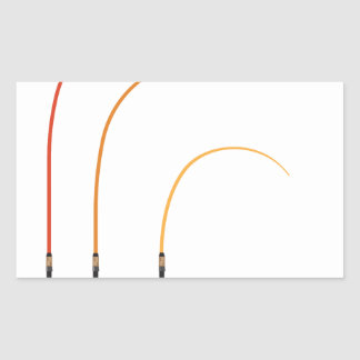 Pegatina Rectangular Tecnología doblada del clip art del ejemplo del