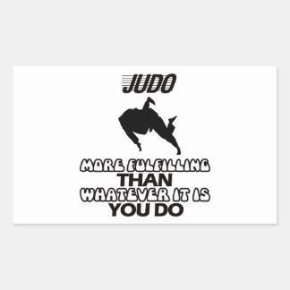 Pegatina Rectangular Tender DISEÑOS del judo