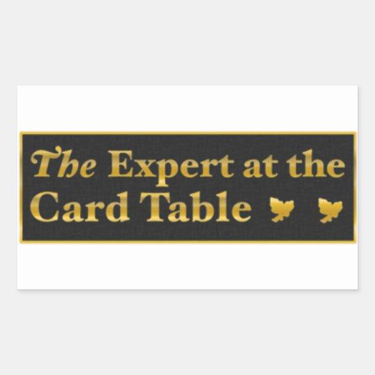 Pegatina Rectangular The expert at the card table sticker (Black)