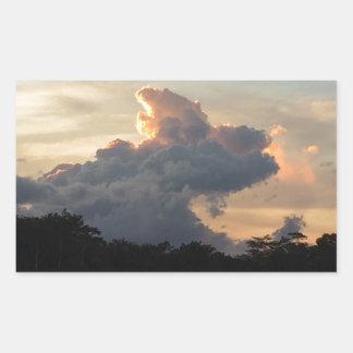 Pegatina Rectangular Tiburón de la nube