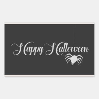 Pegatina Rectangular Tipografía del feliz Halloween