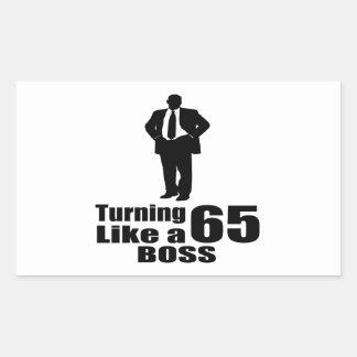Pegatina Rectangular Torneado de 65 como Boss