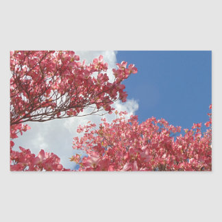 Pegatina Rectangular Torrente de flores