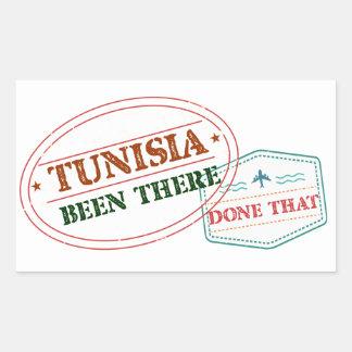 Pegatina Rectangular Túnez allí hecho eso