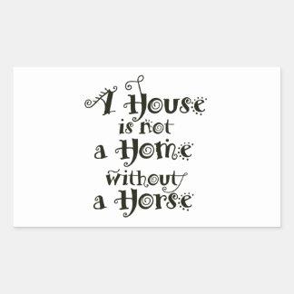 Pegatina Rectangular Una casa sin el caballo