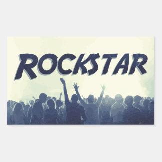 Pegatina Rectangular ¡Usted es un Rockstar!