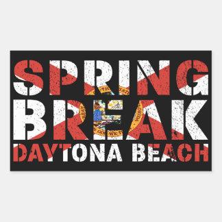 Pegatina Rectangular Vacaciones de primavera Daytona Beach la Florida