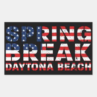 Pegatina Rectangular Vacaciones de primavera Daytona Beach los E.E.U.U.
