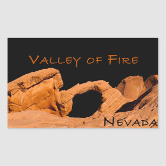Pegatina Rectangular Valle del fuego