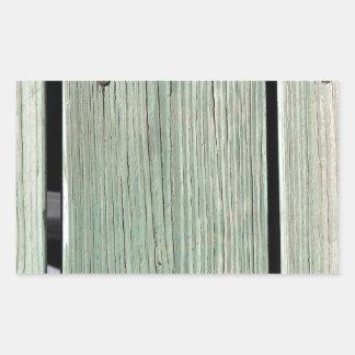 Pegatina Rectangular Verde y calzada de madera del tablón de Brown