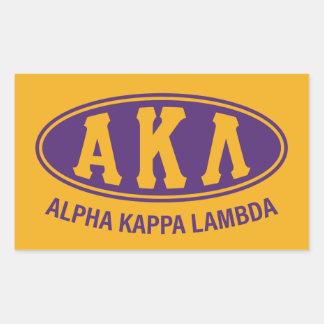 Pegatina Rectangular Vintage alfa de la lambda el | de Kappa