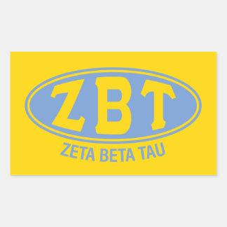 Pegatina Rectangular Vintage beta del Tau el | de la zeta