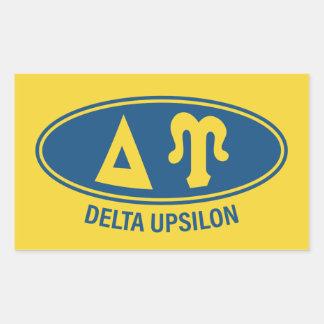 Pegatina Rectangular Vintage de Upsilon el | del delta