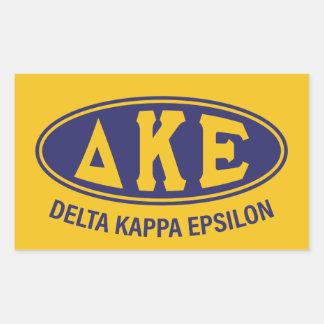 Pegatina Rectangular Vintage del épsilon el | de Kappa del delta