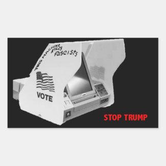 Pegatina Rectangular Vote abajo el fascismo