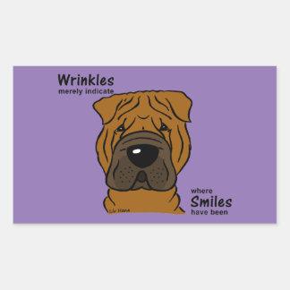Pegatina Rectangular Wrinkles merely indicate smiles