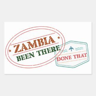 Pegatina Rectangular Zambia allí hecho eso