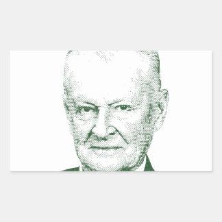 Pegatina Rectangular Zbigniew Brzezinski en dios que confiamos en