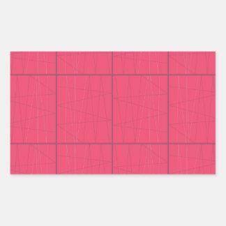 Pegatina Rectangular Zigzag rosado de los elementos del diseño