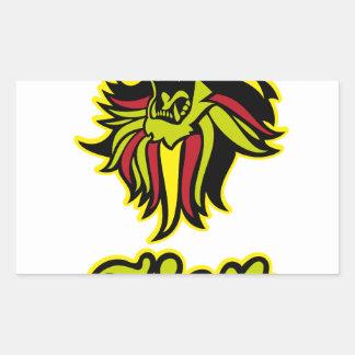 Pegatina Rectangular Zion. Iron Lion Zion HQ Color Edition