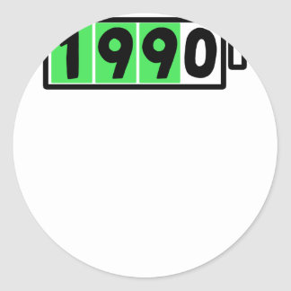 PEGATINA REDONDA 1990