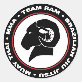 """Pegatina Redonda 3"""" logotipo de los pegatinas, del sistema de seis,"""