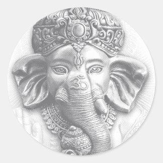 Pegatina Redonda 3d señor Ganesha - OM