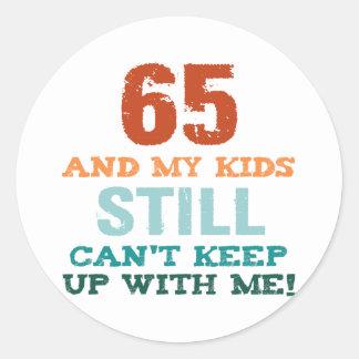 Pegatina Redonda 65.o Cumpleaños para los padres