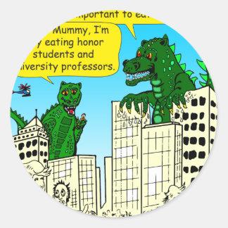 Pegatina Redonda 920 monstruos comen a los estudiantes del honor