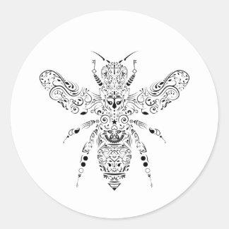 Pegatina Redonda abeja de la belleza