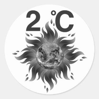 Pegatina Redonda ¡Acción de la conciencia = del clima del cambio de